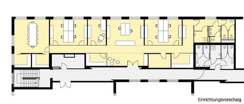 Einrichtungsvorschlag_A1 flexibel - innovativ - Ordination, Zellen- oder Großraumbüro!