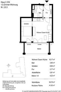 Grundriss 203 Gemütliche 1,5-Zi-Neubauwohnung in Bogenhausen! Attraktiv – Auch in der Rendite