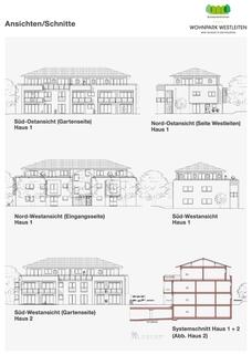 Schnitte Premium 3 Zi. DG-Wohnung mit ca. 109m² Wfl, grosser Dachterrasse und 2x TG-Platz. Nur 2 Min. zur A9.