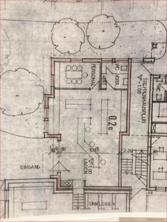Grundriss Gepflegte Gewerbefläche Praxis/Büro/Einzelhandel im Dorfkern mit Stellplätzen