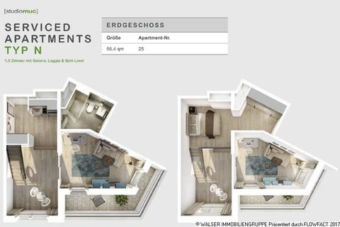 Grundriss Typ N Freiräume mit Format zu Top-Renditen: Außergewöhnliches Galerieapartment direkt an der Galluswarte