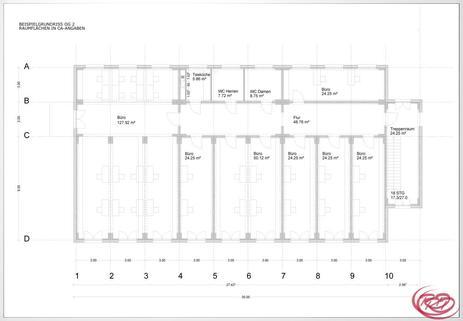 Anlage 1 Grundriss OG2 Timber Business Center - Ihr modulares Büro in Holz an der A94 und an der Bahn+++
