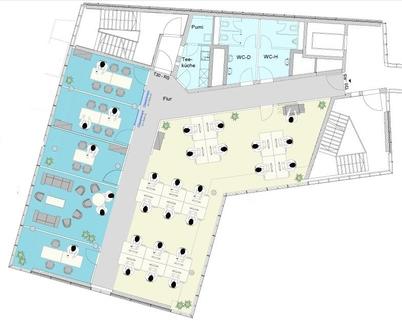 Haus 5 3 OG STOCK - Futuristische Bürofläche in Maxvorstadt