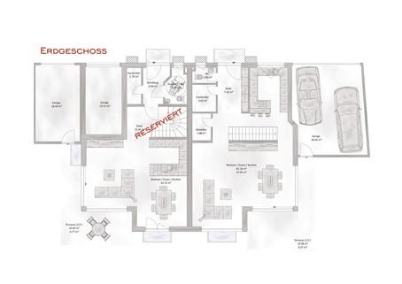 Das Erdgeschoss Verkauft: Sehr große und modern geplante Doppelhaushälfte in OTTOBRUNN