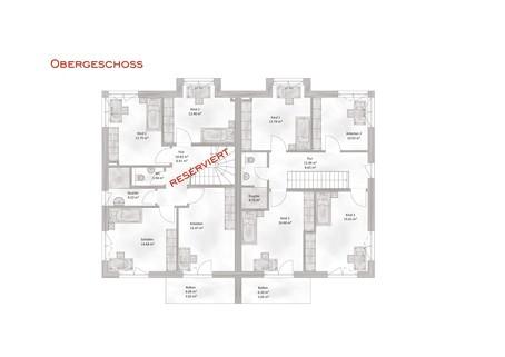 Das Obergeschoss Verkauft: Sehr große und modern geplante Doppelhaushälfte in OTTOBRUNN