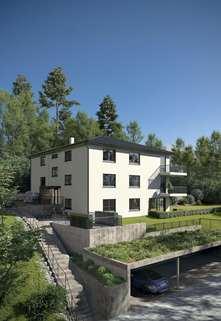 Ansicht mit Carport Wohnen am Kellerwald