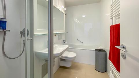 Badezimmer Hochwertig ausgestattete Balkonwohnung