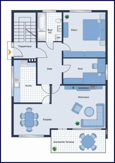 Blick in den Flur 848 m² im Herzen von Zingst. Wohnsitz  mit Ferienvermietung oder Mehrgenerationswohnen möglich.