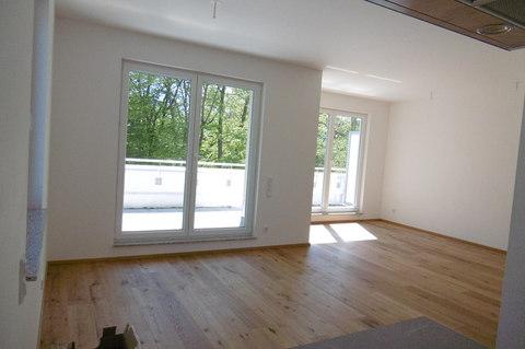 Wohnen Dachterrassentraum: Erstbezug! Exklusive 2-Zimmerwohnung mit großer Dachterrasse!