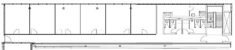 Grundriss 1 OG Haus 2 STOCK - Futuristische Bürofläche in Maxvorstadt