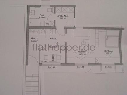 Bild 8 FLATHOPPER.de - 1,5-Zimmer-Wohnung in Stuttgart - Freiberg