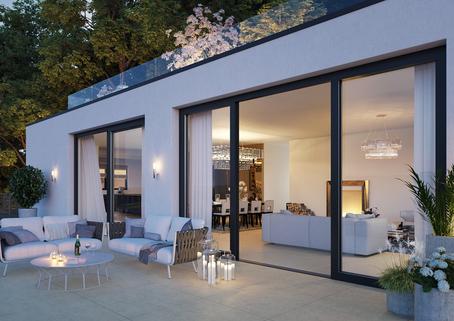 Visualisierung Terrasse Luxus am Mondsee!<br /> Villa mit Rooftop-Pool und spektakulären Aussichten