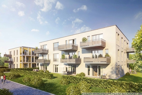 Außenansicht 2 Vaterstetten 3-Zimmer-Neubau-Whg.! Jetzt noch Vorteilspreis sichern und bereits Ende 2018 einziehen