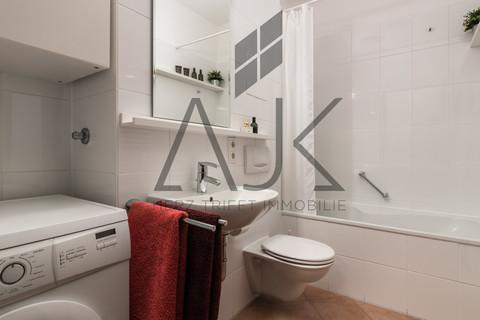 Badezimmer mit Waschmaschinenplatz Beste Ludwigsvorstadt: Zwei-Zimmer,   Loftcharakter - 13qm Süd/West Loggia, Keller/TG - bezugsfrei!
