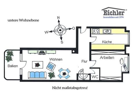 Grundriss_unten Lehel - Dachgeschosswohnung der besonderen Art
