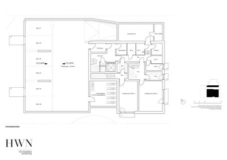 Untergeschoss Neubau: Dachgeschosswohnung mit 2,5-Zimmern und großzügiger Dachterrasse