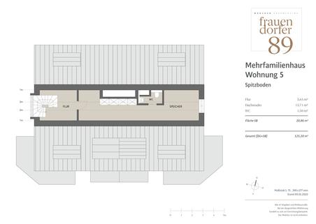 MFH 5 SB Exklusives Penthouse mit 2,5 Zimmern, Dachspitz und Dachterrasse