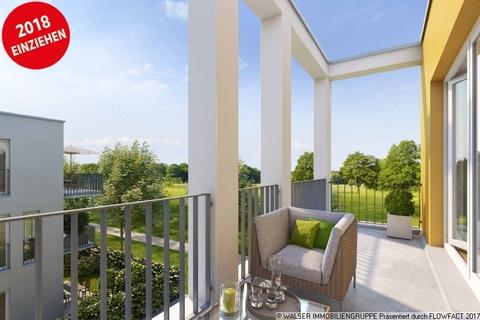 Blick vom Balkon ins Grüne Wunderschöne 2-Zimmerwohnung im begehrten Obergeschoss - Bezug bereits Ende 2018!!