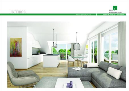 Illustration Neubau in Vaterstetten: 3-Zimmerwohnung zzgl. Hobbyraum und Privatgarten