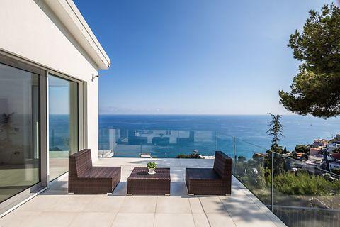 Relax area and view Wunderschöne zeitgenössische Villa in Andora - ITA