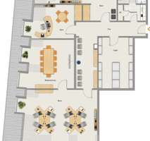 Grundriss Möblierungsvorschlag Beste Lage - Altstadt - Moderne Büroräume zur Untermiete