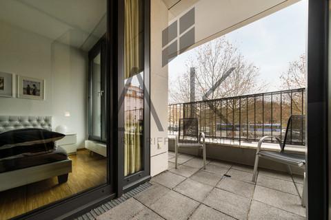 Balkon mit Terrassencharakter Beste Ludwigsvorstadt: Zwei-Zimmer,   Loftcharakter - 13qm Süd/West Loggia, Keller/TG - bezugsfrei!