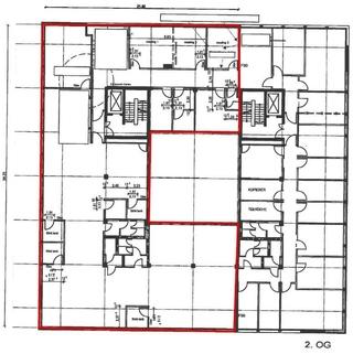 Grundriss 2 OG BT1 CAMPUS M... Moderne, hochwertig ausgestattete Büroeinheit im Münchner Osten