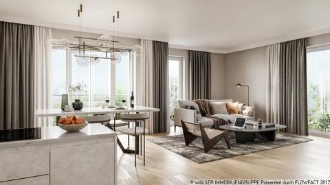 FINAL_Innenvisualisierung-2560px-150dpi WALSER: Durchdachtes 1-Zimmer-Apartment mit großem Balkon