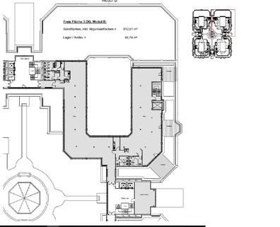 Grundriss_3OG_ModB_912qm Terrassen ... Begrünte Innenhöfe ... Schicke Büros ... Was will man mehr?