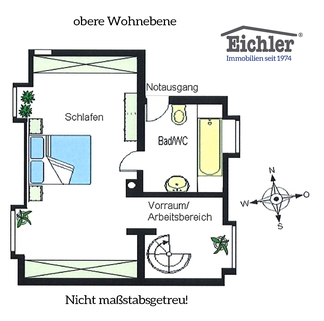Grundriss_oben Lehel - Dachgeschosswohnung der besonderen Art