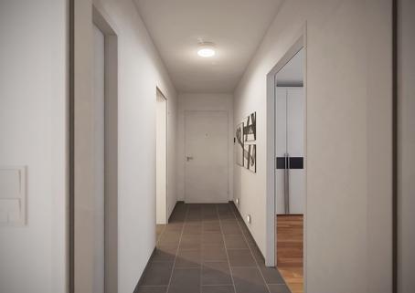Flur Neubau 2-Zimmerwohnung EG