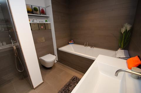 Badezimmer EG Eisbach-Privatzugang! Exklusive Erdgeschosswohnung über 2 Etagen (EG/UG)