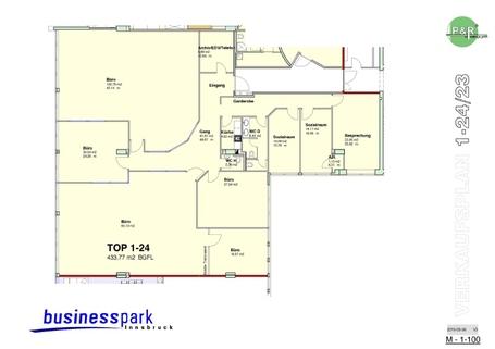 TOP 1-24 - V3-2  A3 Große Büroräume zur individuellen Nutzung