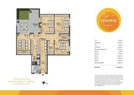 Hausham_Grundriss_Typ_11_Büro HEGERICH: Hausham Mittendrin | Repräsentative Büro-/Praxisräume in zentraler Lage