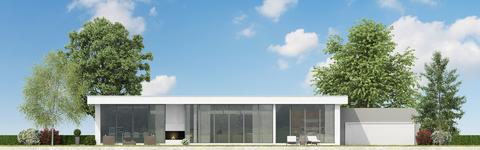 Ansicht Süd Einmalige Lage:Traumhaftes Grundstück mit Planung direkt am Truderinger Wald!