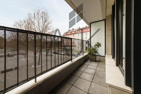 Loggia mit 13,65 qm Nutzfläche Beste Ludwigsvorstadt: Zwei-Zimmer,   Loftcharakter - 13qm Süd/West Loggia, Keller/TG - bezugsfrei!