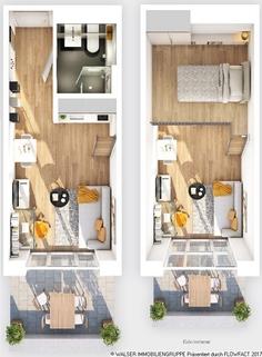 Grundriss Typ I  Ausschnitt Tolles Galerie-Apartment im STUDIOSUS 5 *** Für Studis + Azubis
