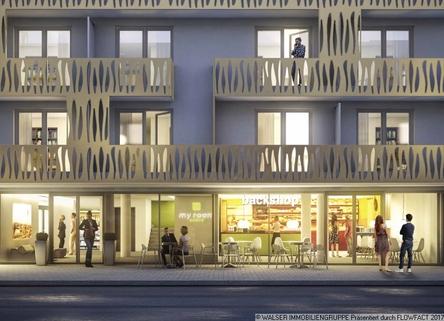 Backshop im Erdgeschoss Traumhaft: NEUBAU-DACHGESCHOSS-Apartment *NUR für Studenten und Auszubildende*