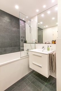Neu gestaltetes Badezimmer Modernisierte, helle 3-Zimmer-Wohnung mit großem Südbalkon