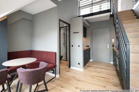 Küche mit Essbereich Dachterrassen-Wohnung mit extravaganter Ausstattung in optimaler Lage