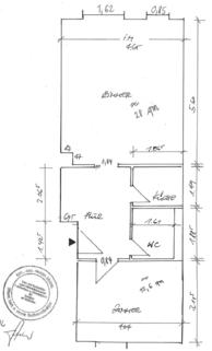 Grundriss vermaßt EICHLER IMMOBILIEN: Karlstraße - Zentral gelegene Büro-/Praxiseinheit