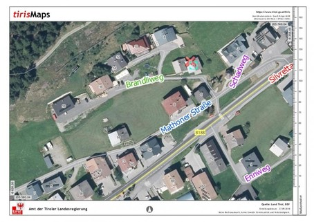 Lageplan Baurecht Grundstück mit Altbestand im beliebesten Schigebiet
