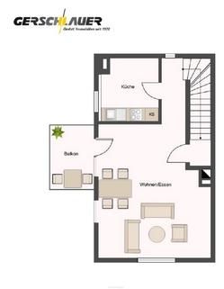 Obergeschoss Doppelhaushälfte in Waldtrudering