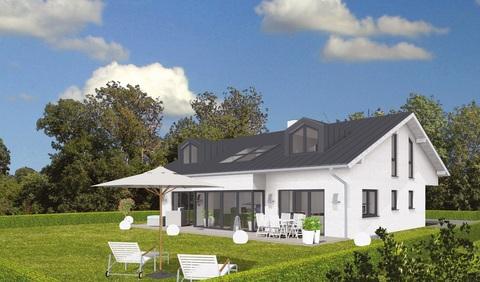 Süd-Ansicht GEO-Wohnbau: TRAUM-Haus auf TRAUM-Grundstück in Waldtrudering