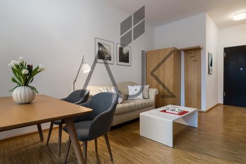 voll möbiliert Beste Ludwigsvorstadt: Zwei-Zimmer,   Loftcharakter - 13qm Süd/West Loggia, Keller/TG - bezugsfrei!