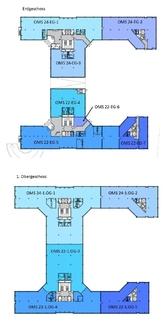 Grundriss 1 OG + 2 OG Ansprechendes Bürohaus ... Moderne Ausstattung