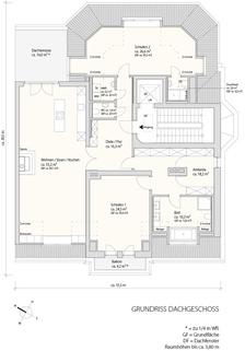 3. Obergeschoss Exzellent sanierte 3,5-Zimmer-Dachgeschoss-Wohnung in prächtigem Stadtpalais