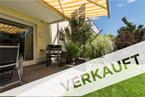Verkauft Exklusive 3,5 Zimmer Gartenwohnung mit Souterain, Sauna und Privatgarten verkauft.