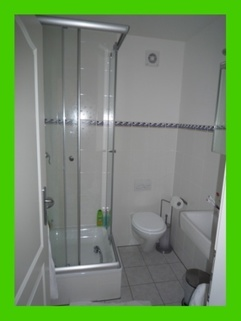 Badezimmer 1 möblierte Wohnung auf Zeit ab Mitte September 2017  an der Ostsee frei!