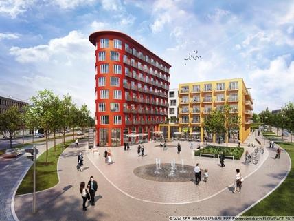 Außenansicht mit Springbrunnen Tolles Galerie-Apartment im STUDIOSUS 5 *** Für Studis + Azubis